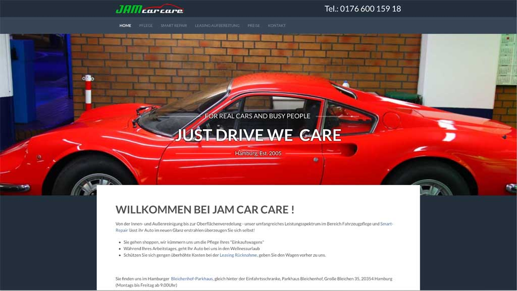 Jam Car Care Bildschirmfotos